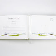 BINTH Baby Book in Original Grass Green Detail Inside Page