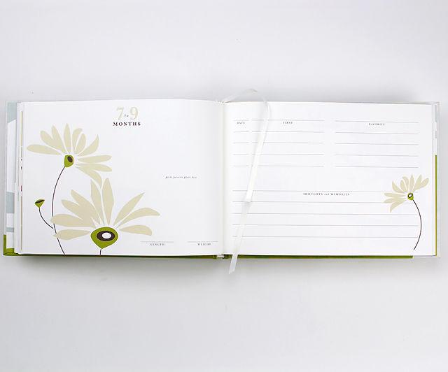 BINTH Baby Book in Original Grass Green Detail Inside Page