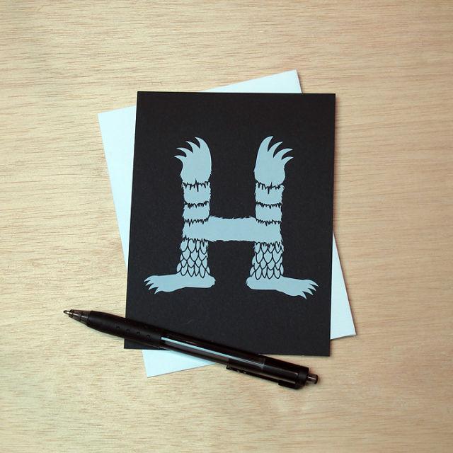 Binth Love Letters - H