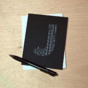 Binth Love Letters - J