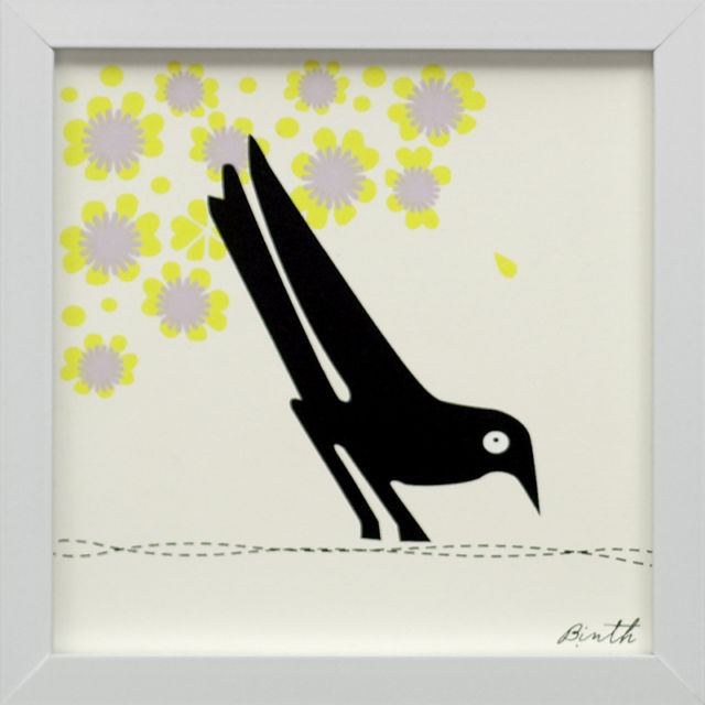 Binth Friends Framed Print - Curious Crow