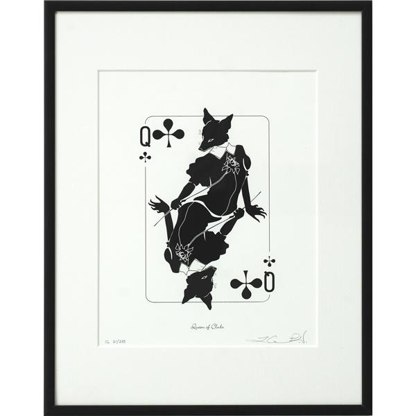 Queen of Clubs Print
