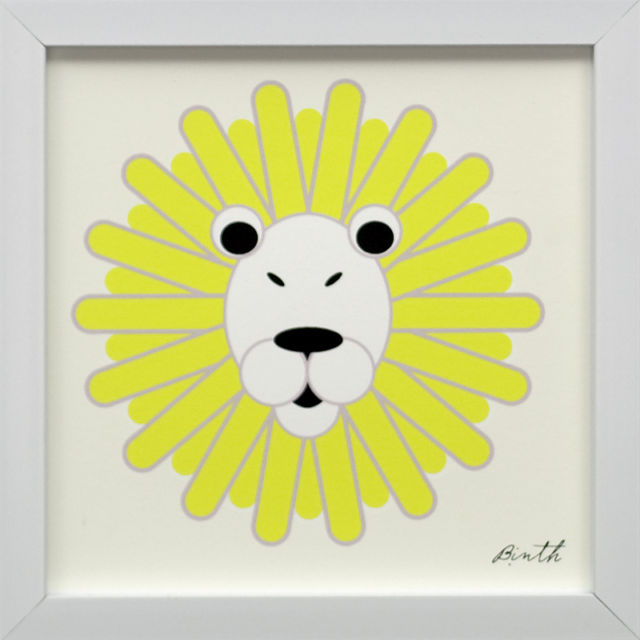 Binth Friends Framed Print - Lion