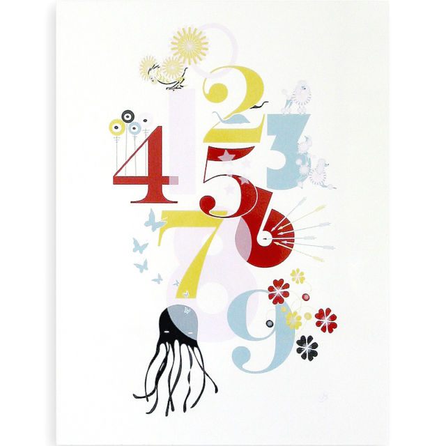 Numbers Poster, Unframed